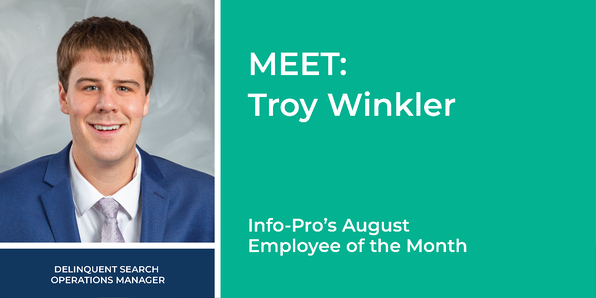 August Employee of the Month: Troy Winkler