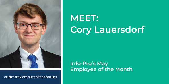 May Employee of the Month Cory Lauersdorf