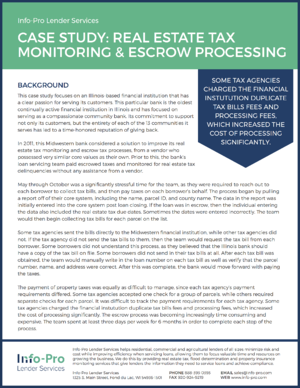 Case Study: Real Estate Tax Monitoring and Escrow Processing