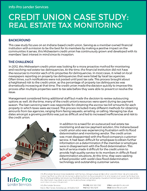 Credit Union Case Study: Real Estate Tax Monitoring