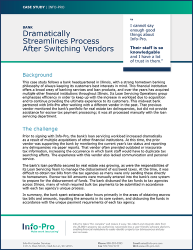 Case-Study: United Bank Dramatically Streamlined Process After Switching Vendors
