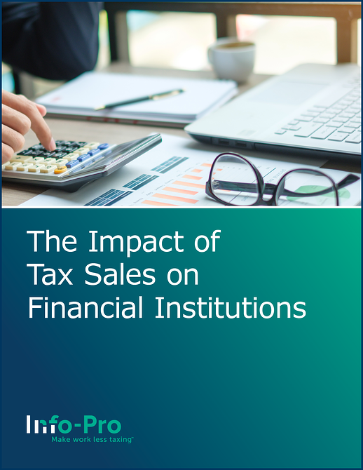 The Impact of Tax Sales on Financial Institutions