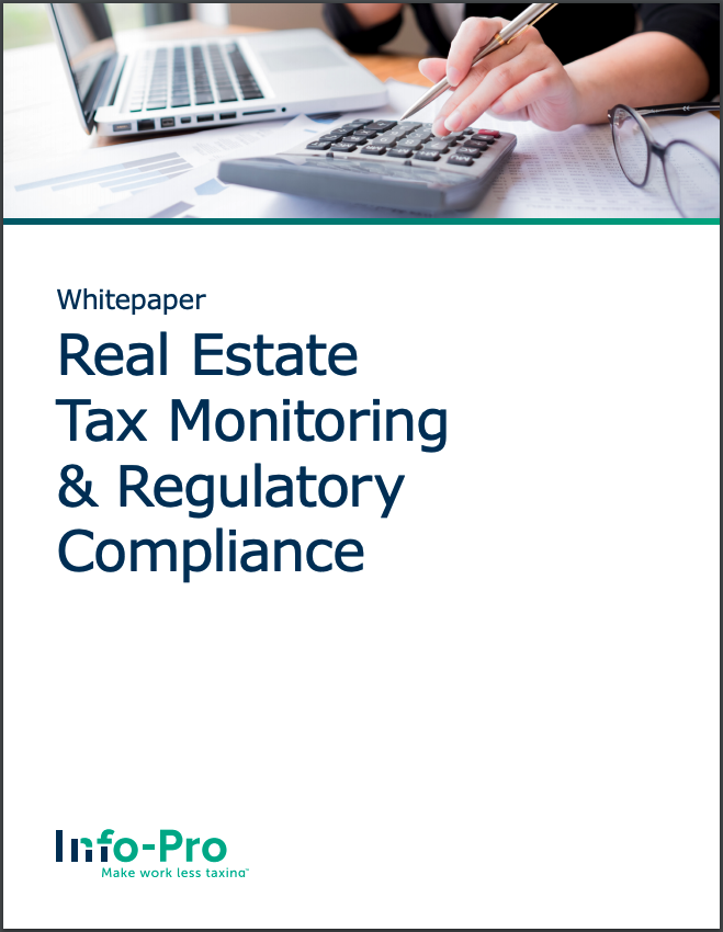 Real estate tax monitoring and regulatory compliance